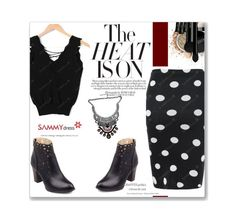 """""""Polka Dot Skirt!"""" by albinnaflower ❤ liked on Polyvore featuring INIKA"""