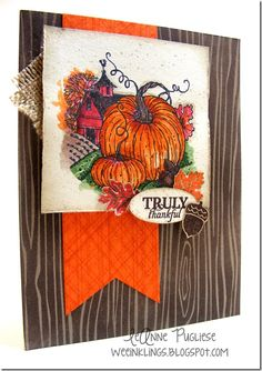GORGEOUS WATERCOLORED PUMPKINS! LeAnne Pugliese WeeInklings Harvest Home Paper Pumpkin Truly Thankful Stampin Up