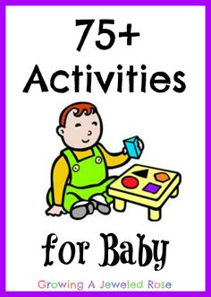 TONS of activities for babies- a  fun and educational baby collection from Growing A Jeweled rose