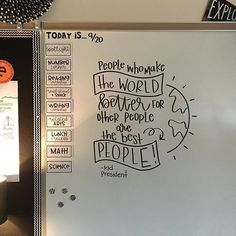 How perfect is this classroom quote And how impressive is that handwriting Teacher goals, for sure! WordsOfWisdom WordsToLiveBy TeacherQuotes ClassroomQuotes TeacherTips ClassroomDecor Hand is part of Classroom quotes - Classroom Design, Future Classroom, School Classroom, Classroom Organization, Classroom Management, Classroom Norms, Classroom Whiteboard, Classroom Ideas, History Classroom Decorations