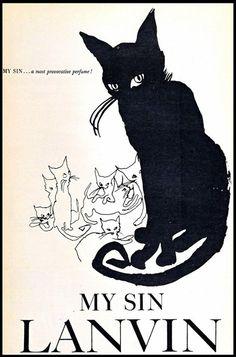 Lanvin vintage My Sin ad
