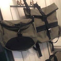 Sac à dos transformable Limbo et sac à dos Troïka en toile kaki cousus par An Mary - Patrons Sacôtin