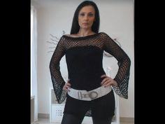 VESTITO MAXI MAGLIA LUX TUTORIAL UNCINETTO CROCHET vestito maximaglia Crochet Lingerie, Knit Crochet, Crochet Patterns, 1, Knitting, Women, Fashion, Tricot, Blue Blouse