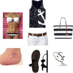 """""""day at the beach - anchors."""" by dafrenchfry on Polyvore. Get the look at http://www.studentrate.com/fashion/fashion.aspx"""