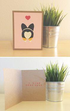 Corgi Buns Card by Pandamants