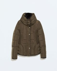 SHORT PARKA WITH FITTED WAIST from Zara