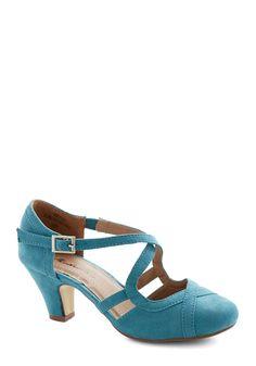 Fancied Footwork Heel in Jade Blue | Mod Retro Vintage Heels | ModCloth.com