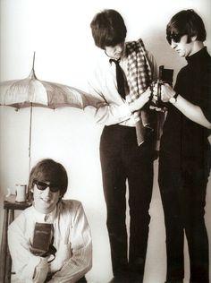 15-John Lennon, George Harrison, and Ringo Starr