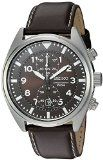 #7: Seiko Men's SNN241 Stainless Steel Watch with Brown Leather Band