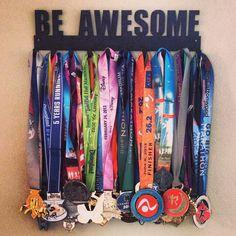 SportHooks medal display giveaway Displaying Medals, Metal Display, Stuff, Diy Craftsgift, Medal Display Ideas, Display Medals, Kid