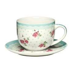 Cup And Saucer Rose Blue Colour New Design 16oz Bone China Good Quality Guinessmart http://www.amazon.co.uk/dp/B00J1E9Q7E/ref=cm_sw_r_pi_dp_gdvfvb1R5EP67