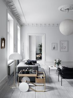 my scandinavian home: A Striking Swedish Home With A Wall of Books!