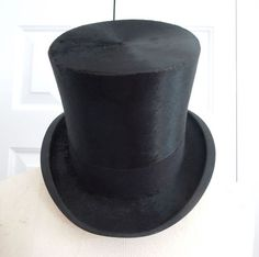 Vintage Antique Knox NY Mens Black Beaver Silk Top Hat | eBay