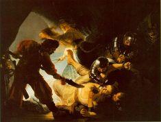 Rembrandt's The Blindin of Samson