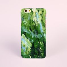iPhone 7 Case, iPhone 7 plus Case, iPhone 6 Plus Case, iPhone 6 Case, iPhone 6s Case, iPhone 5s Case, 3D iPhone Cases, Green Abstract Paint