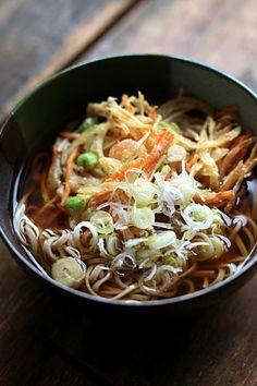 かき揚げ蕎麦 - Soba with Kakiage.