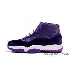 New Air Jordan 11 Heiress Purple Velvet Free Shipping b169234d78