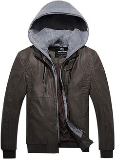 alles,prima  Bekleidung, Herren, Jacken, Mäntel & Westen, Jacken Winter Hoodies, Winter Sweaters, Long Jackets, Jacket Buttons, Jackets Online, Mens Clothing Styles, Faux Leather Jackets, Hoodie Jacket, Jackets