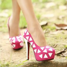 High Heels with White Triangle $39.00