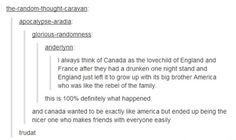 Canda and America XD