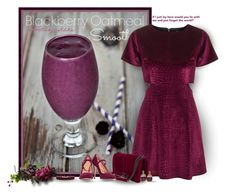 """""""Blackberry Oatmeal Smoothie"""" by mimi1207 ❤ liked on Polyvore featuring Topshop, Vanessa Mooney, Jade Jagger and Halston Heritage"""