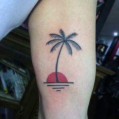 100 Palm Tree Tattoos For Men – Tropical Design Ideas Palm Tree Tattoo With Sunset On Arms For Men tatuajes Tropisches Tattoo, Tree Sleeve Tattoo, Sleeve Tattoos, Back Tattoo, Mini Tattoos, Trendy Tattoos, Designs Henna, Tree Tattoo Designs, Tattoos Arm Mann