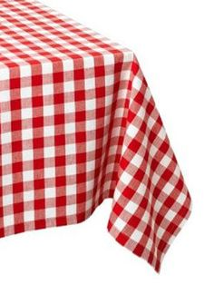 DII Cotton, Machine Washable, Dinner, Summer & Picnic Tablecloth 60 x Tango Red Check, Seats 10 to 12 People Kitchen Tablecloths, Holiday Tablecloths, Checkered Tablecloth, Outdoor Tablecloth, Tablecloth Size Chart, Thing 1, Table Covers, Home, Colors
