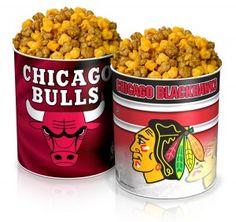Playoff Package of Chicago's own Garrett's Popcorn! Go Bulls! Go Blackhawks!