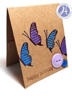 Hampton Art Blog: Butterfly Gift Card Holder by Dana Warren
