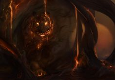 """Tiger, tiger by Ksottam on DeviantArt ~ """"Tyger Tyger burning bright,..   In the forests of the night:..  What immortal hand or eye,..  Dare frame thy fearful symmetry?"""" -  The Tyger By William Blake"""