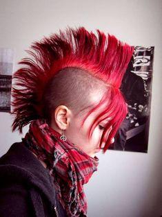 Imagen de girl, Mohawk, and punk