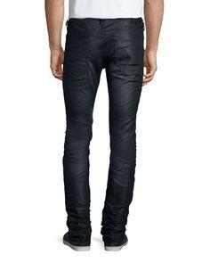 Thavar Tonal Wash Denim Jeans, Dark Blue