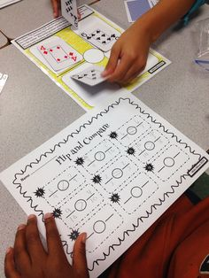 comparing fractions and other math centers using cards and dice for fifth grade