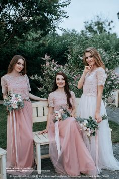 Blush Lace Dress in Limited color: Blush and Biscuit Blush Waterfall Tulle Skirts and Blush Belle Lace Top with Silk Under Top Bridesmaid Dress♡ Tulle Lace, Tulle Dress, Lace Dress, Tulle Skirts, Bridesmaid Dresses, Prom Dresses, Wedding Dresses, Bridesmaid Skirt And Top, Wedding Attire