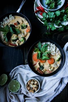 As we continue with our Asian cuisine tastes, this week we are headed to Thailand with a red curry coconut soup, filled with flavour and fresh exotic herbs.