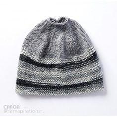 625c12f42 Free Easy Knit Hat Pattern Kloboukové Vzory, Vzory Na Háčkování, Šály, Šití,