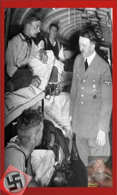 Hitler, victorious in Poland, visits a hospital train en route back home. Hitler, victorious in Poland, visits a hospital train en route back home. Nazi Propaganda, World History, World War Ii, Germany Ww2, The Third Reich, Interesting History, Rare Photos, Military History, Historical Photos