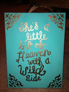 She's a little bit of heaven with a wild side canvas