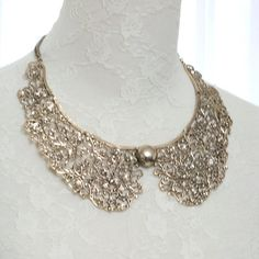 A peter pan collar necklace $26