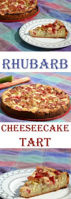 If you love rhubarb, you will adore this decadent tart! Perfect for a summer dessert, it layers cheesecake filling over a crumb crust with a delicious rhubarb topping! Make sure to save it to your dessert board!