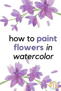 Learning how to paint flowers in watercolor is very fun and this is the step by step guide for you that will help you do just that. Watercolor Beginner, Watercolor Art Lessons, Watercolor Paintings For Beginners, Watercolor Projects, Watercolor Ideas, Watercolor Flowers Tutorial, Watercolour Tutorials, Floral Watercolor, Painting Tutorials