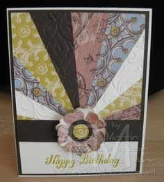 handmade card ... sunburst technique ... layered flower where the sun would be ... lovely card! ... Stampin' Up
