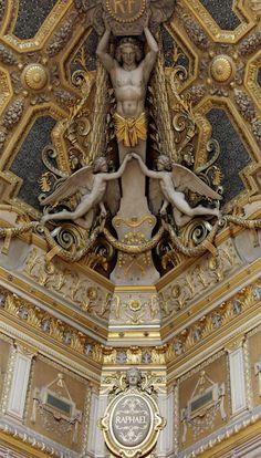 The Louvre ceilings are works of art! Musée du Louvre, Paris.