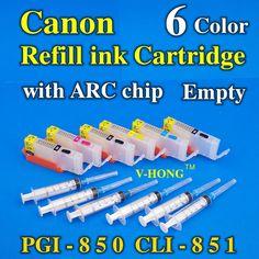 PGI-850 CLI-851 6 color Refill ink cartridge apply to inkjet printer