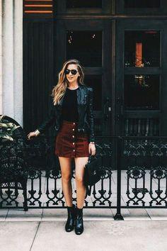 The post corduroy skirt Fashion Ideas appeared first on Italia Moda. Mode Outfits, Fashion Outfits, Womens Fashion, Casual Outfits, Skirt Fashion, Fashion Ideas, Casual Skirts, Fashion Clothes, Jackets Fashion