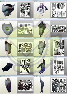 Genji Shimada OverWatch Costume Template / Pattern Pepakura 3D Model