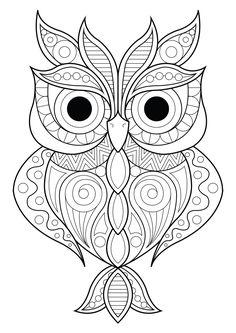 Mandala Owl Coloring Pages. 30 Mandala Owl Coloring Pages. Free Cute Owl Coloring Page Spring Coloring Pages, Pattern Coloring Pages, Printable Adult Coloring Pages, Mandala Coloring Pages, Coloring Pages To Print, Coloring Books, Adult Colouring Pages, Free Coloring, Kids Coloring