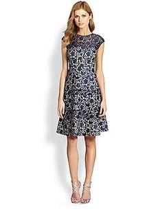 Kay Unger Lace Fit-&-Flare Dress | $430.00 | http://www.saksfifthavenue.com/