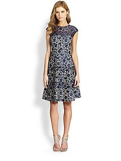Kay Unger Lace Fit-&-Flare Dress | $430.00 | http://www.saksfifthavenue.com/