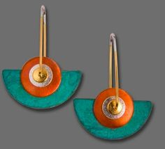 ~~Keith Lewis sterling silver earrings, patina and copper~~